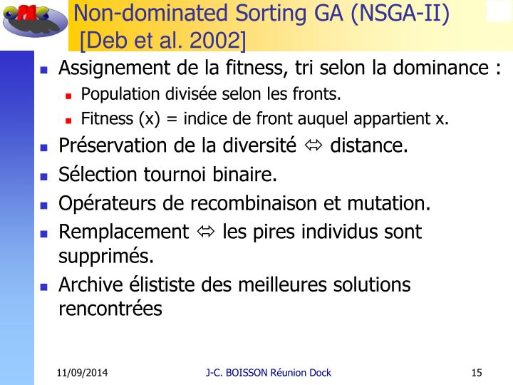 Non-dominated Sorting GA (NSGA-II)