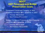 mdot 2007 pavement and bridge preservation goals