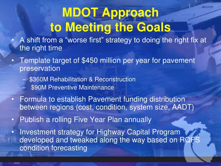 MDOT Approach