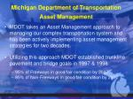 michigan department of transportation asset management