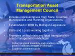 transportation asset management council