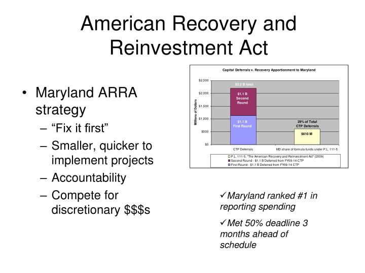 Maryland ARRA strategy