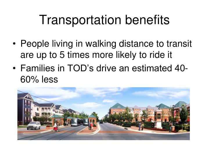 Transportation benefits