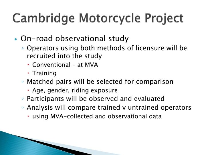 Cambridge Motorcycle Project