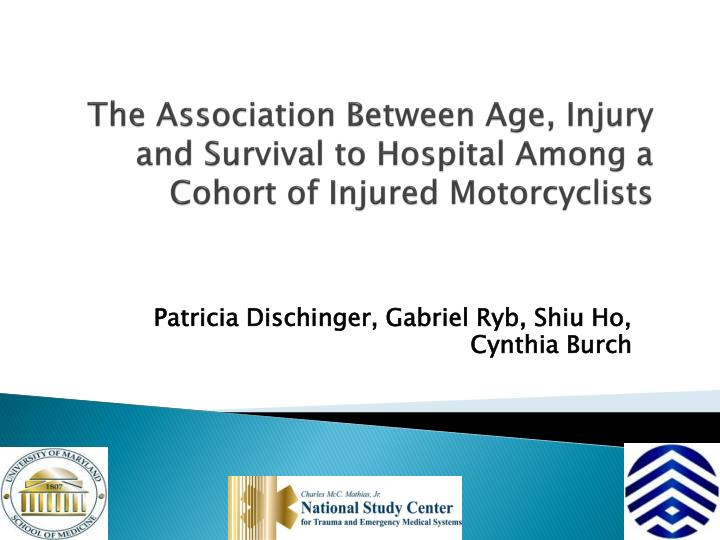 The Association Between Age, Injury and Survival to Hospital Among a Cohort of Injured Motorcyclists