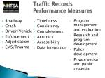 traffic records performance measures