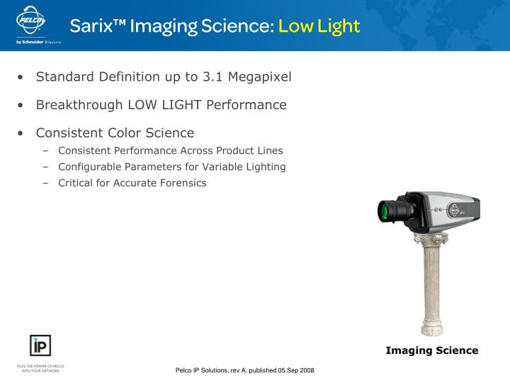 Sarix™ Imaging Science: