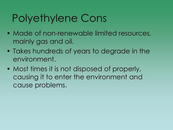 Polyethylene Cons