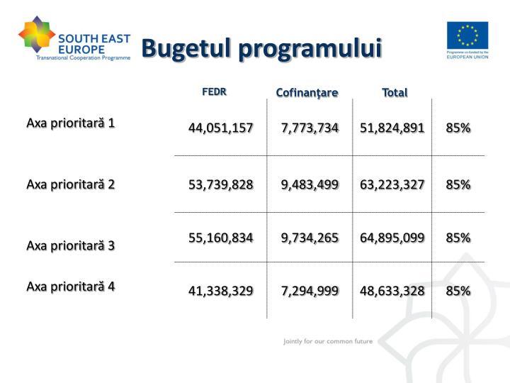 Bugetul programului