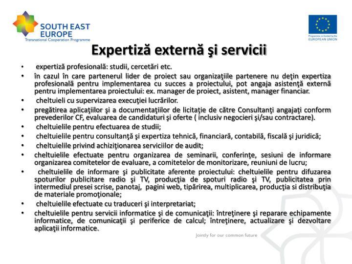 Expertiză externă şi servicii