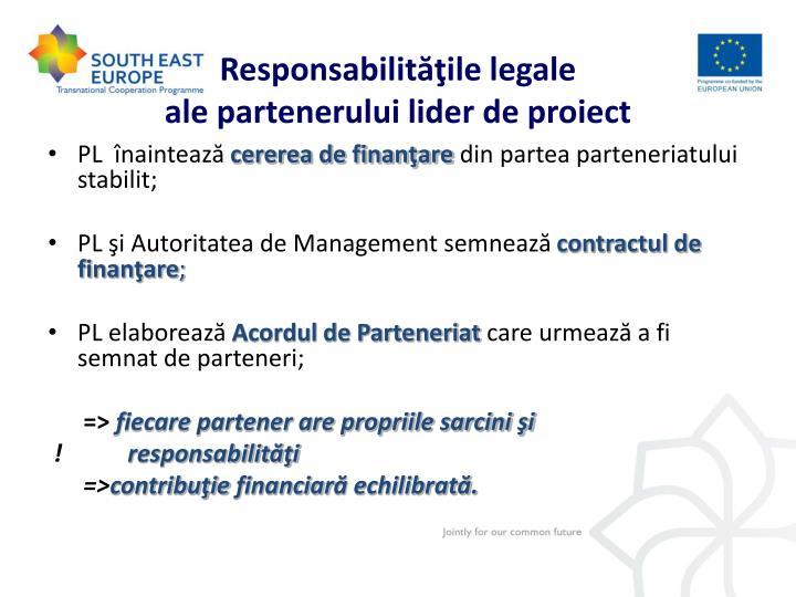 Responsabilităţile legale