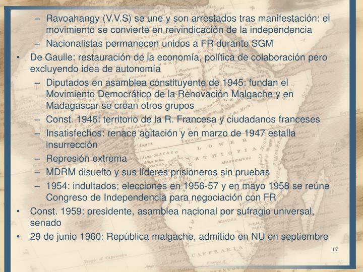 Ravoahangy (V.V.S) se une y son arrestados tras manifestación: el movimiento se convierte en reivindicación de la independencia