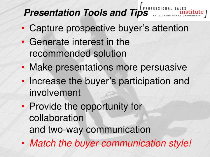 Presentation Tools and Tips