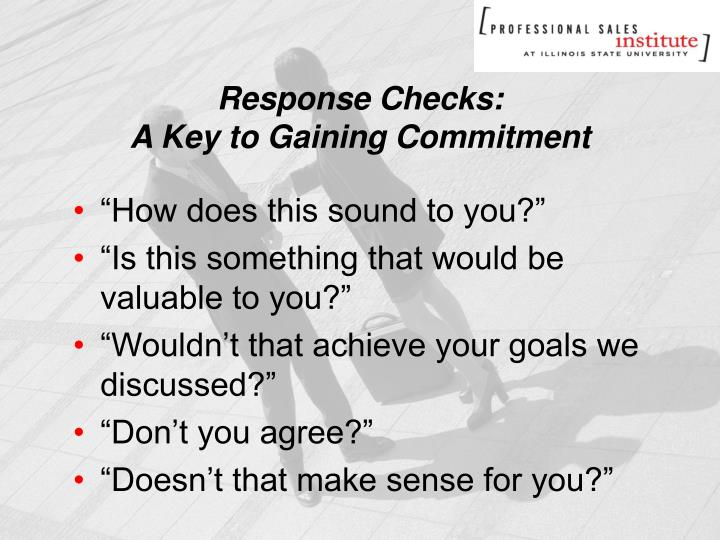 Response Checks: