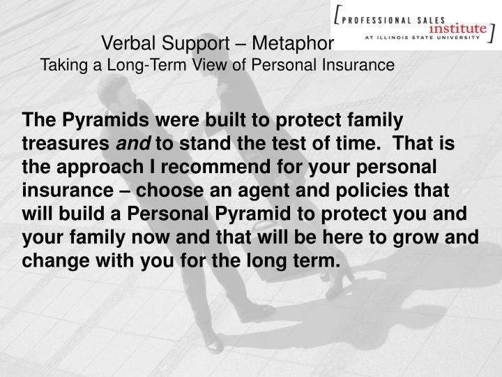 Verbal Support – Metaphor