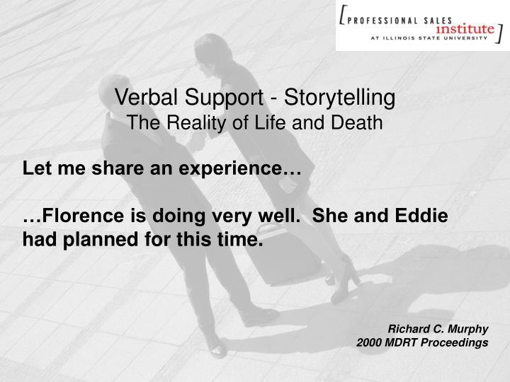 Verbal Support - Storytelling