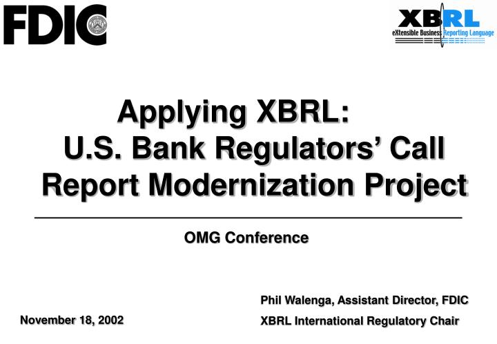 Applying XBRL: