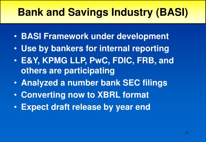 Bank and Savings Industry (BASI)
