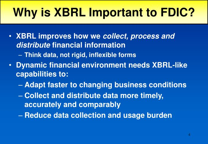 Why is XBRL Important to FDIC?