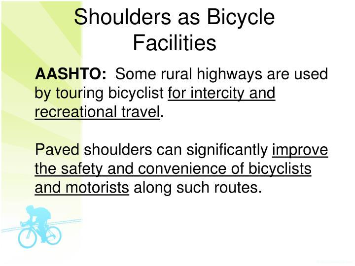 Shoulders as Bicycle Facilities