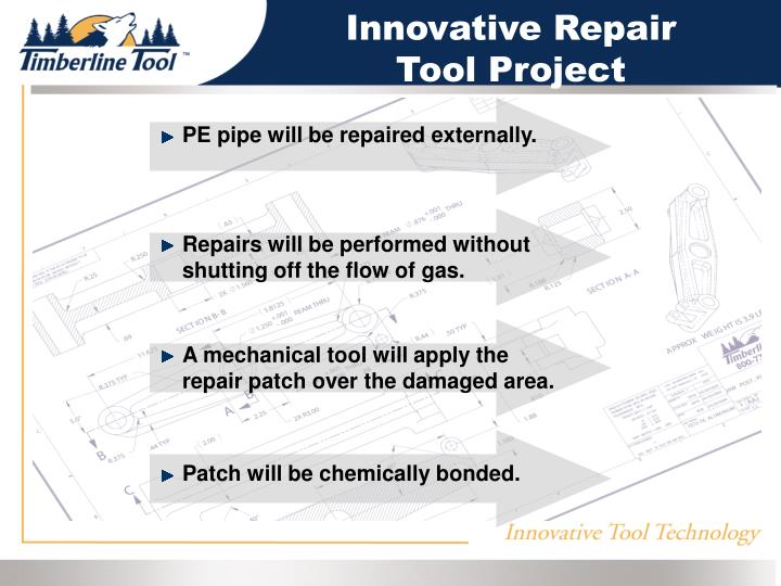 PE pipe will be repaired externally.