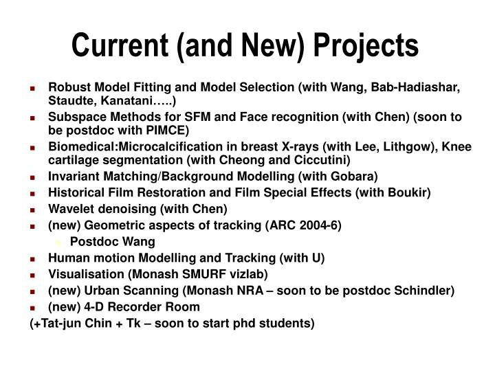 Robust Model Fitting and Model Selection (with Wang, Bab-Hadiashar, Staudte, Kanatani…..)