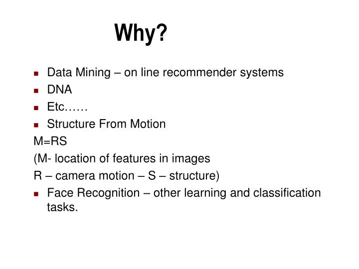 Data Mining – on line recommender systems