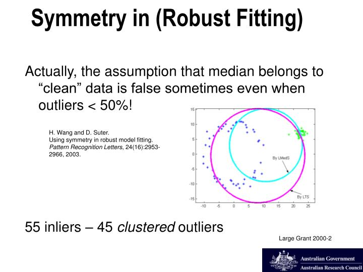 """Actually, the assumption that median belongs to """"clean"""" data is false sometimes even when outliers < 50%!"""