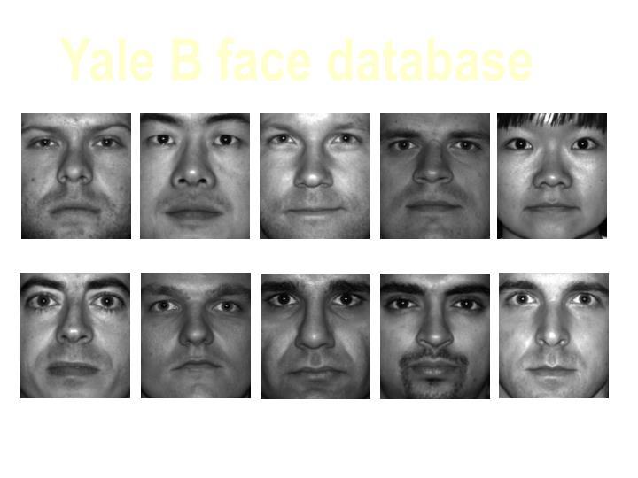 Yale B face database