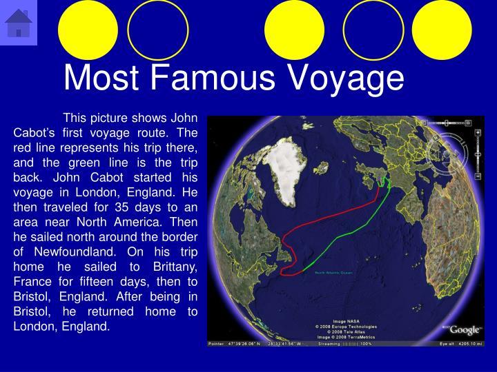 Most Famous Voyage