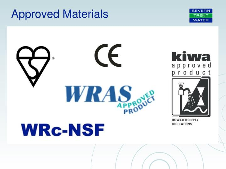Approved Materials