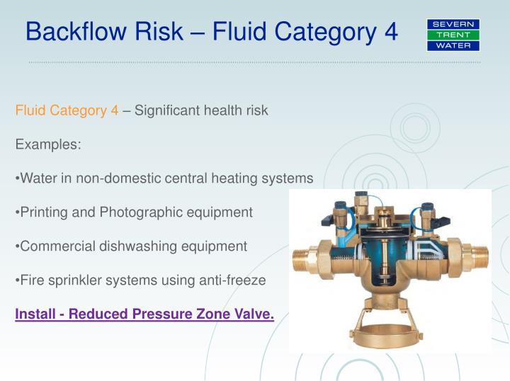 Backflow Risk – Fluid Category 4