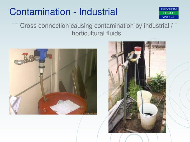Cross connection causing contamination by industrial / horticultural fluids