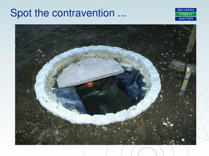 Spot the contravention ...