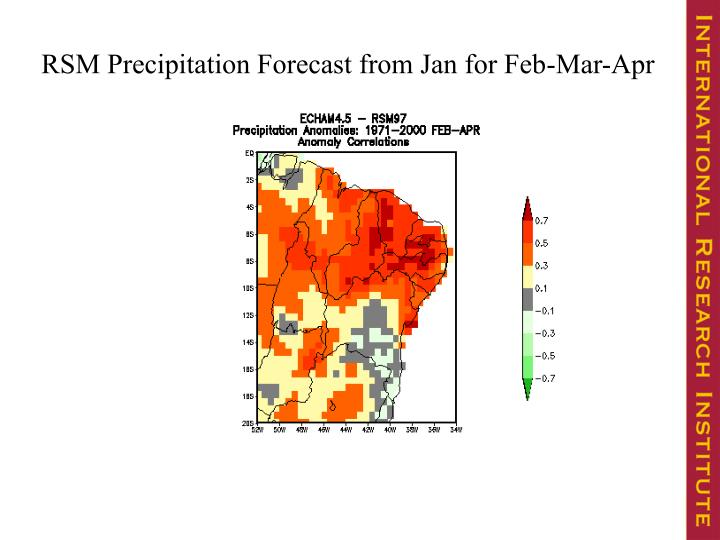 RSM Precipitation Forecast from Jan for Feb-Mar-Apr
