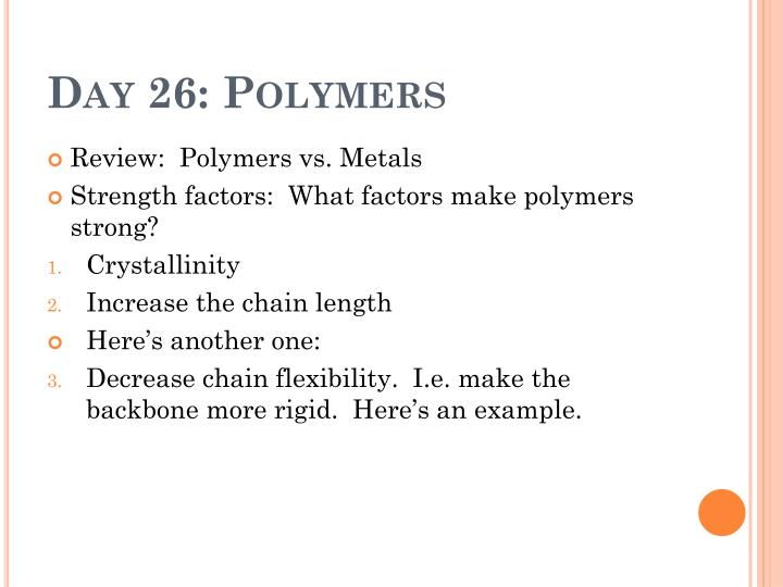 Day 26 polymers