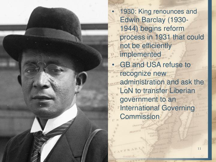 1930: King renounces and