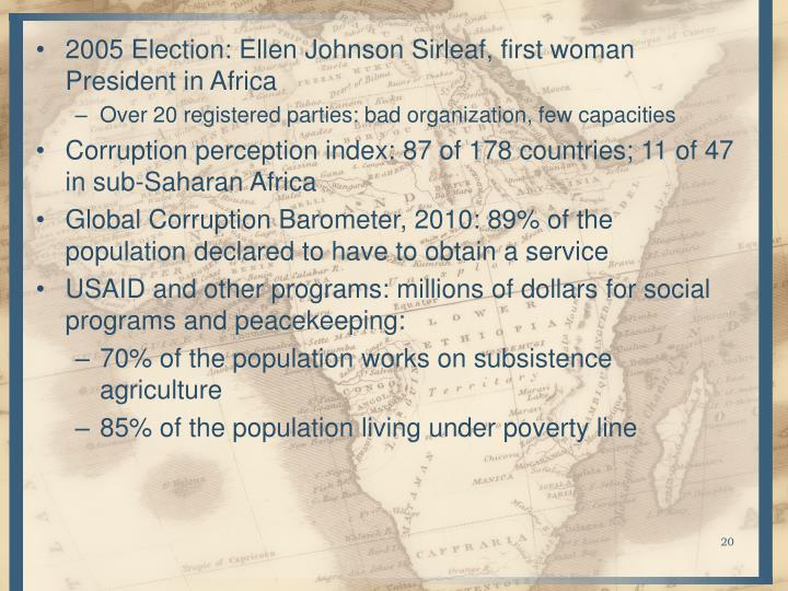 2005 Election: Ellen Johnson Sirleaf, first woman President in Africa