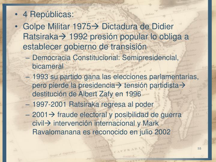 4 Repúblicas:
