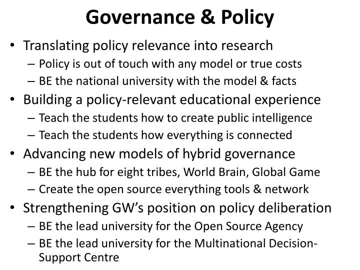 Governance & Policy