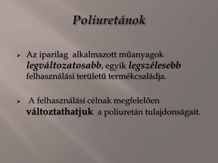 Poliuretánok