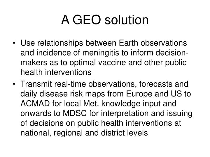 A GEO solution