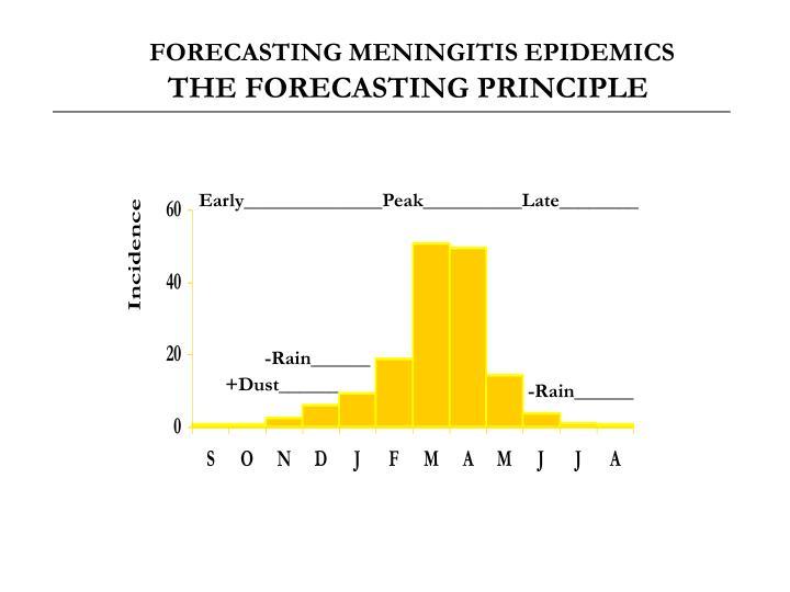 FORECASTING MENINGITIS EPIDEMICS