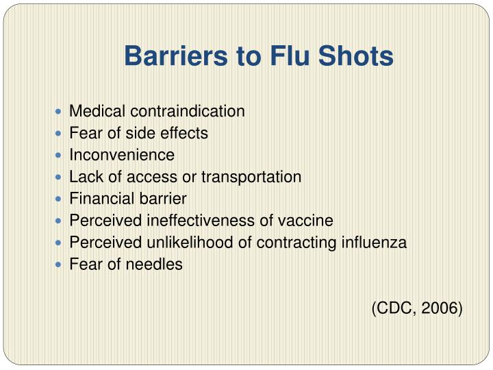 Barriers to Flu Shots
