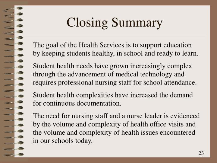 Closing Summary