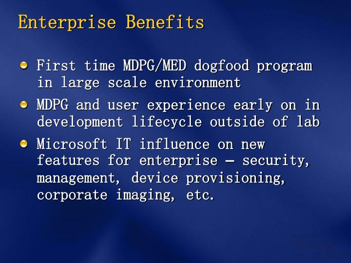 Enterprise Benefits