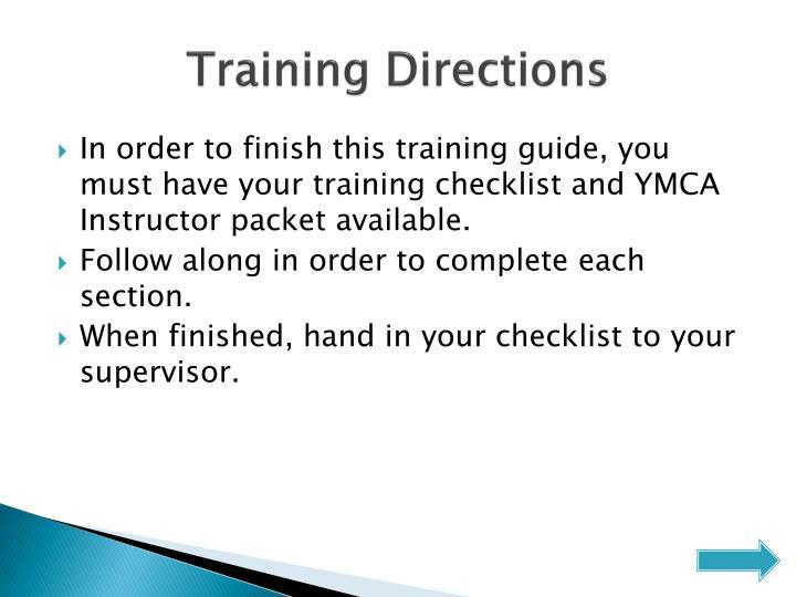 Training Directions