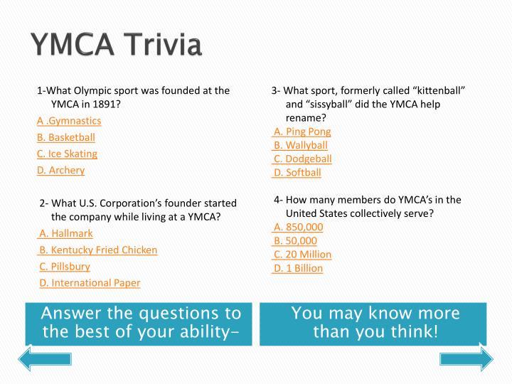 YMCA Trivia