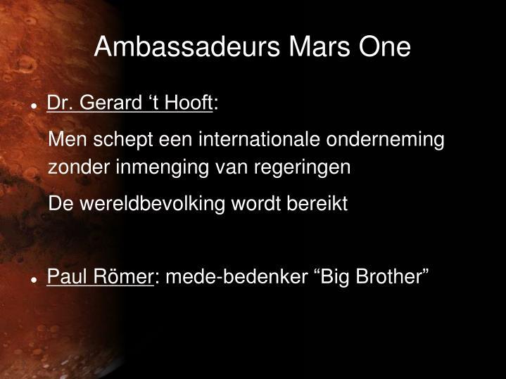 Ambassadeurs Mars One