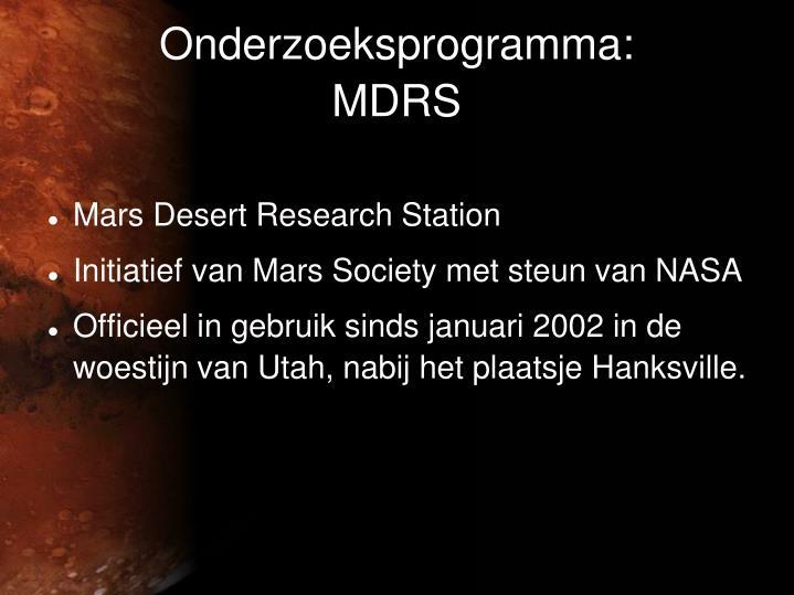 Onderzoeksprogramma: